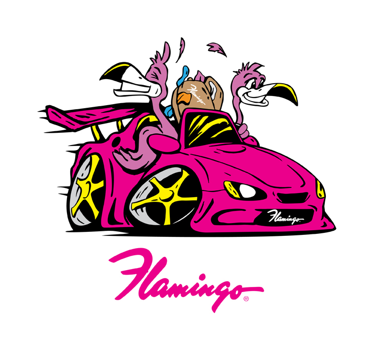 Flamingo Drive (Adobe Illustrator)