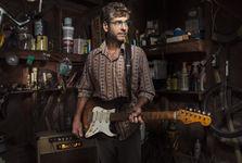 Guitar wood shedding photoshoot fender badcat