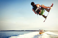 O'neill wakeboard mastercraft follow boat photoshoot