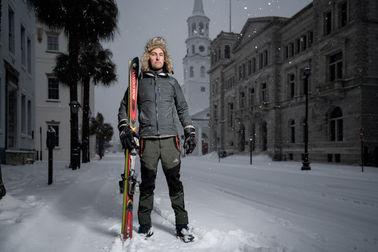Charleston Snow Portrait Landscape Broad Street