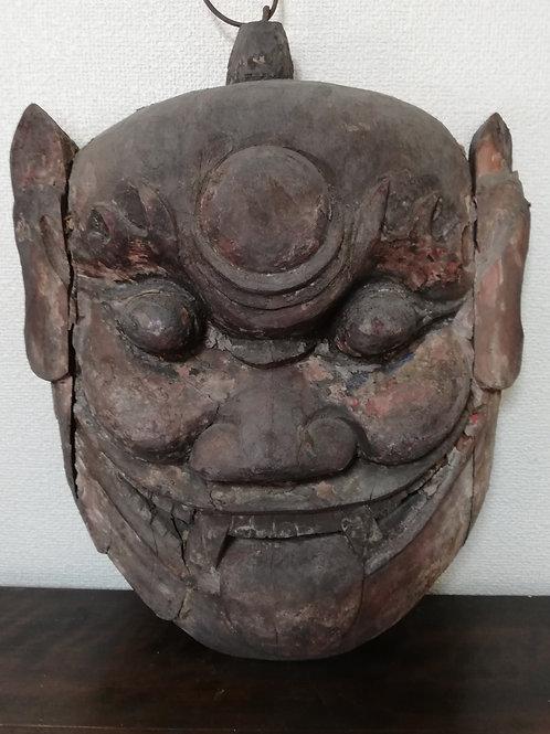 木彫顔面像