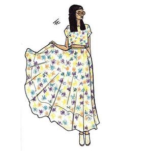 Beautiful Dress By: F.T