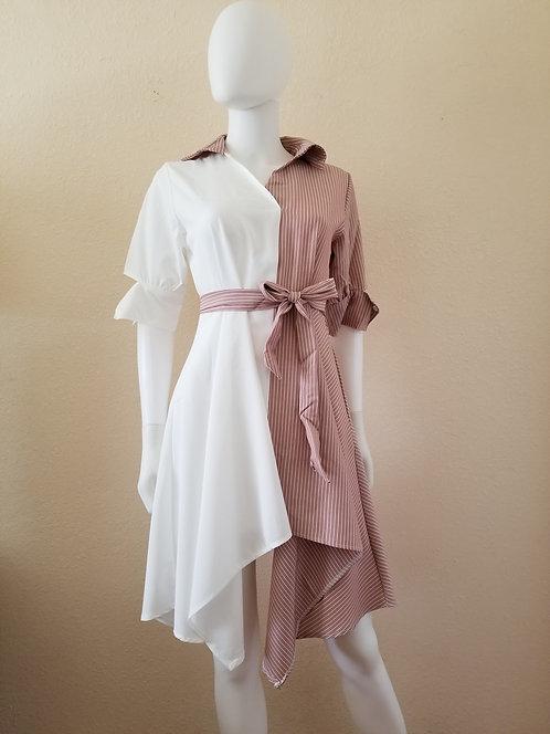 Symmetric A-Line Dress (Blush)