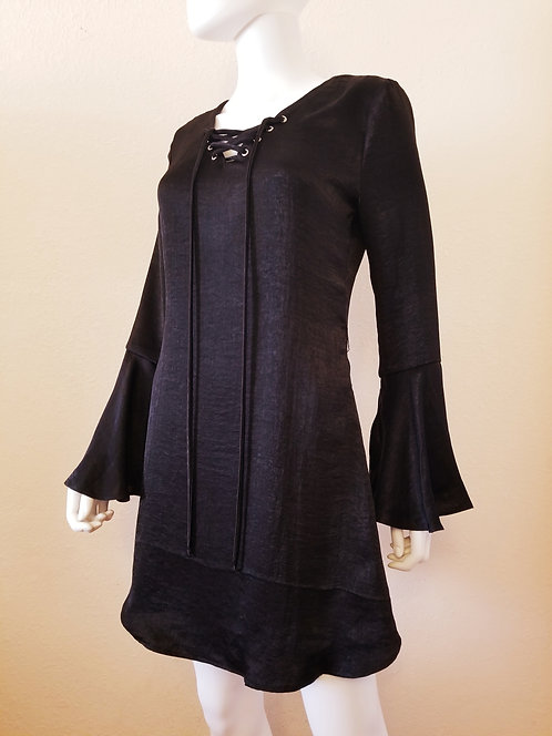 Bell Sleeve Dress (Black)