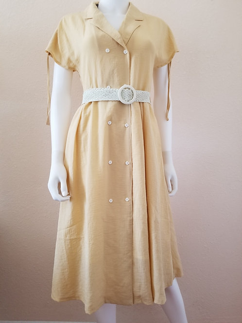 Vintage Style Dress with Detachable Belt