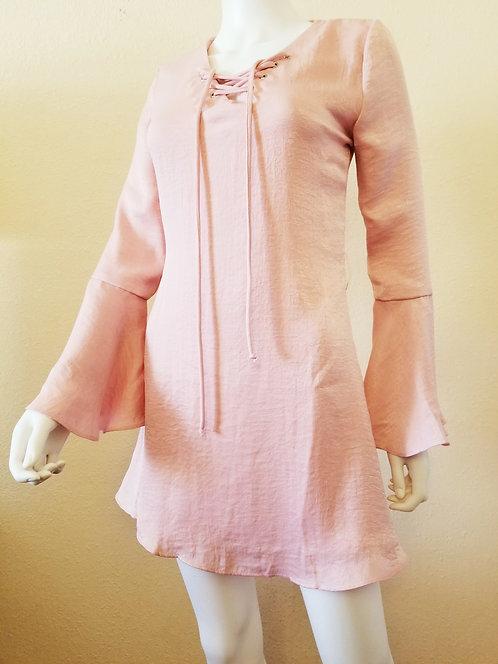 Bell Sleeve Dress (Blush)