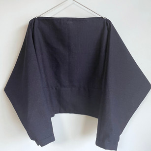 SOLD OUT: Wool KIMONO fabric, Navy Blue