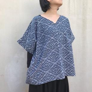 SOLD OUT, Sleeve-arranged: YUKATA fabric, diamond patterns