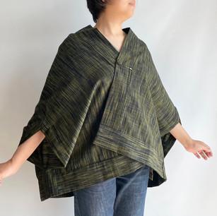 SOLD OUT: Wool KIMONO fabric, Dark green