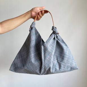 Wool KIMONO fabric, Grayish light blue