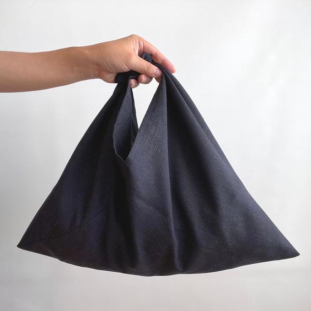 AZUMA bag -Wool KIMONO, Navy Blue