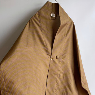 SOULD OUT: Silk TANZEN fabric, Ocher Grid
