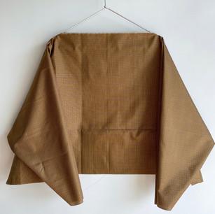 Made to order | KIMONO Silk, KIMONO TANZEN Silk, Ocher Grid