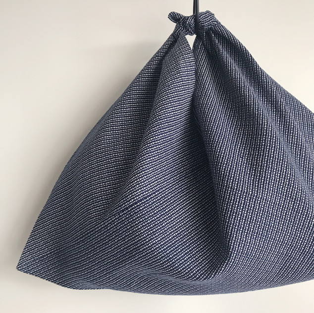 AZUMA bag -YUKATA fabric, tiny bamboo patterns