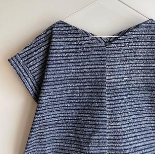 Made-tYUKATA fabric, wave-like abstract pattern