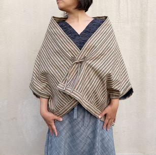SOLD OUT: Hemp wool blend, multiple color stripe