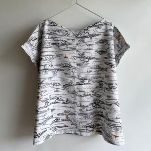 SOLD OUT: YUKATA fabric, landscape pattern