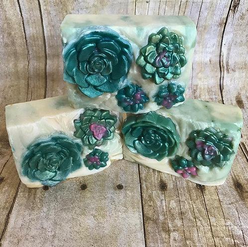 Serene Succulent Soap