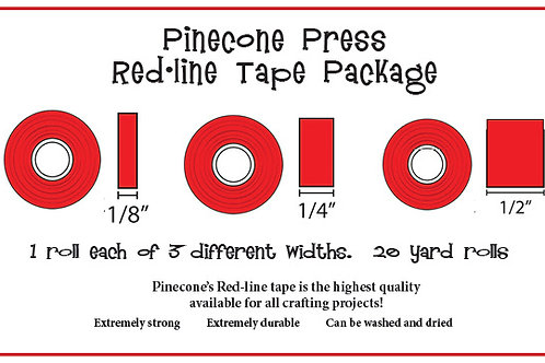 Red-line tape package