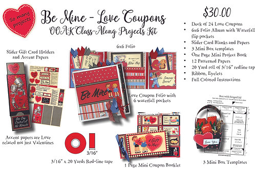 OOAK Love Coupons Projects Kit