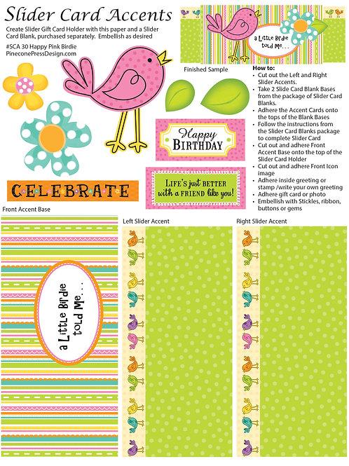 Happy Birdie Pink Bird  SCA30
