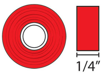 "1/4"" Red-line Tape x 20 yards"