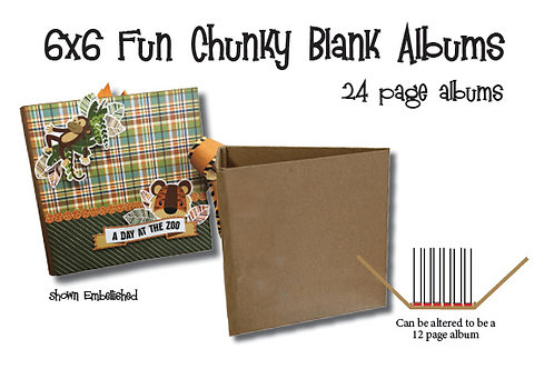 6x6 Blank 24 Page Chunky Album