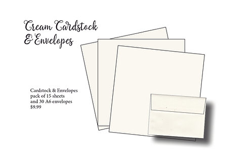 Cream Cardstock and A6 Envelopes