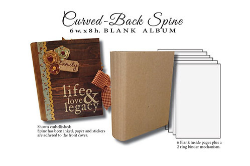 6x8 Curved Back Spine Album