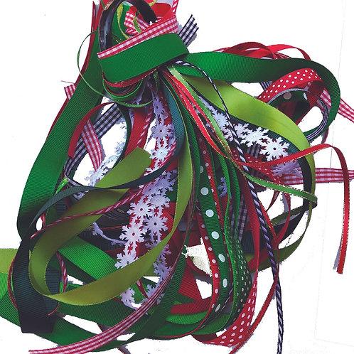 Christmas Ribbons Bright