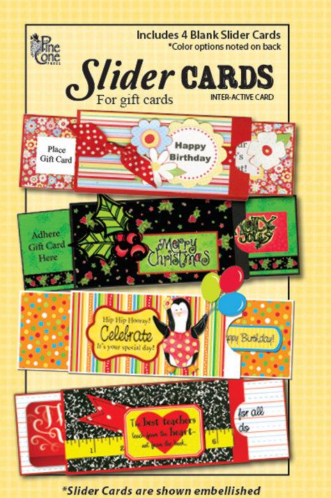Slider Gift Card Holder Blanks