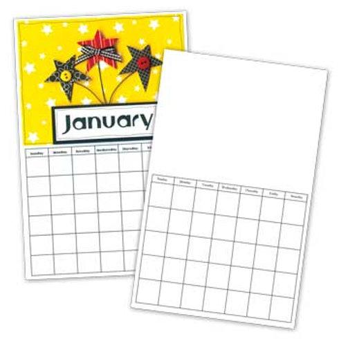 6x9 Blank Calendar
