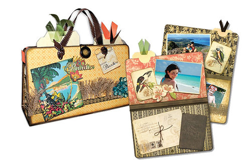 G45 Tropical Travelogue Chunky Suitcase Album