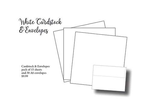 White Cardstock and A6 Envelopes