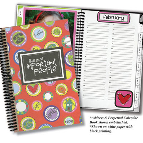 Address & Perpetual Calendar Blank Album