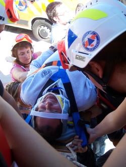 alumnos rescate camión