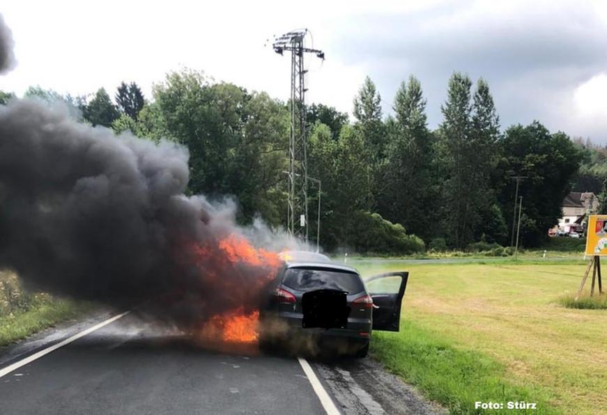 4. Einsatz: Fahrzeugbrand B256 Schöneberg