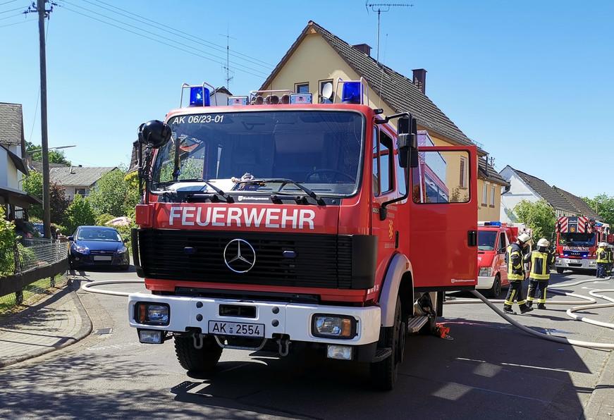1. Einsatz:  Gebäudebrand Schöneberg