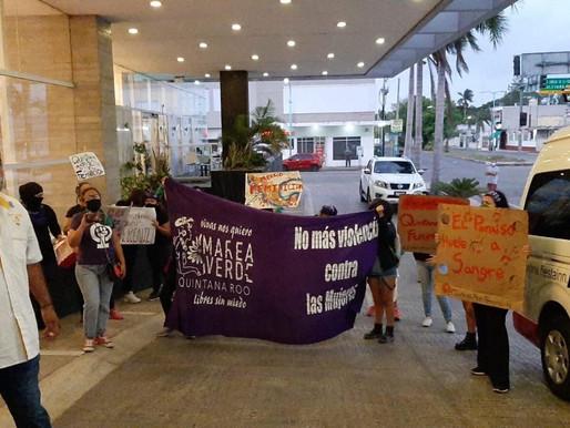 Manifestantes no Logran ser Escuchados por el Presidente de la República Lopez Obrador