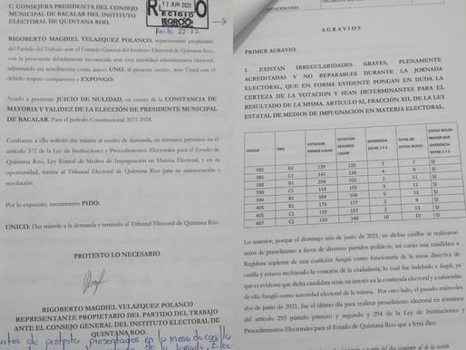 Por Ilegalidades Graves Impugna, Trini Guillen, Resultados de Elección en Bacalar