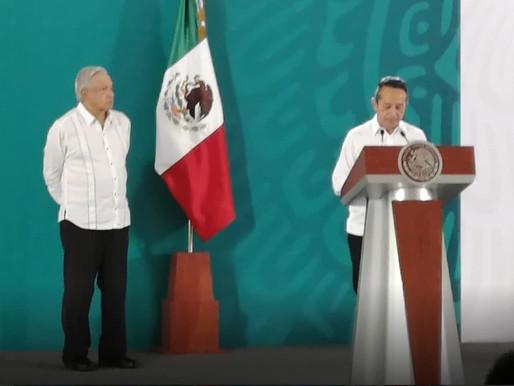 """""""Quintana Roo es un Estado Demandante"""", dice Carlos Joaquin ante el presidente AMLO en la mañanera"""