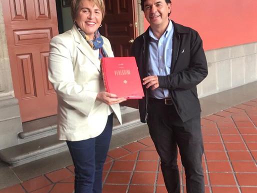 Acuerda Laura Beristain con Jesús Ramírez Fortalecer la Comunicación en Solidaridad