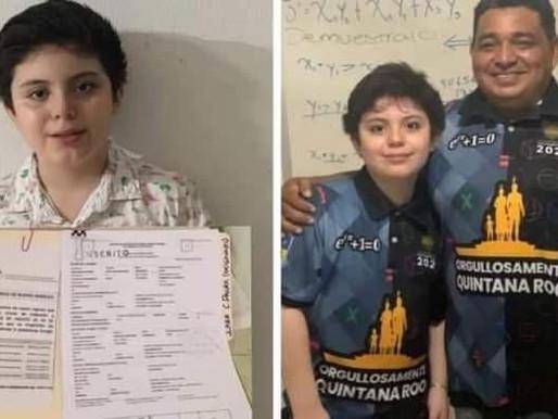 ¡Niño Genio!, Chetumaleño Cursará Preparatoria a sus 10 Años