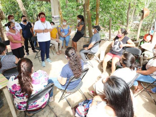 Todas las Comunidades Rurales contarán con un Parque Principal y Funcional: Sofía Alcocer