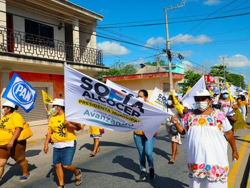 Mujeres y Hombres de JMM, Respaldan el Proyecto y la Coalición que Representa Sofía Alcocer
