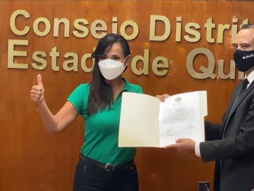 Entrega el INE Quintana Roo Constancia por Mayoría Relativa a Diputados Federales Electos