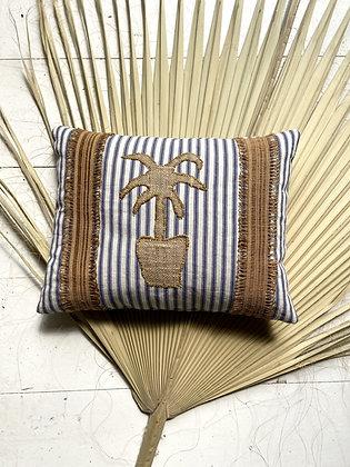 Palm in vase Cushion