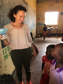 Monica in Seba's Classroom