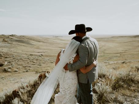 Josh and Melissa - Medicine Hat Ranch Wedding