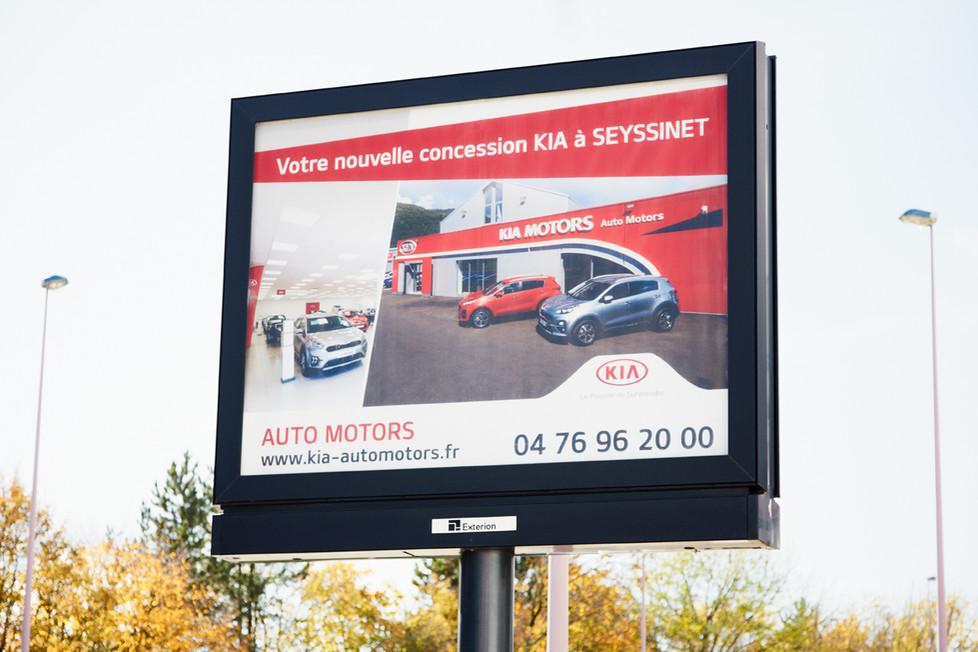 Kia Automotors photographie Nicolas Pianfetti affichage publicité Seyssinet